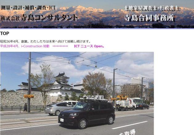 「寺島コンサルタント」のWebサイト